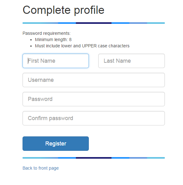 Complete user profile